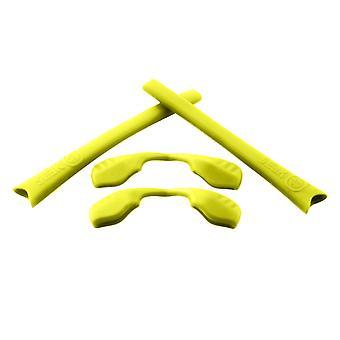 استبدال مجموعة المطاط ل Oakley الرادار سلسلة Earsocks معبد & Nosepads الأصفر