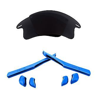 استبدال العدسات & كيت ل Oakley سترة سريعة XL الأسود والأزرق المضادة للخدش المضادة للوهج UV400 من قبل SeekOptics