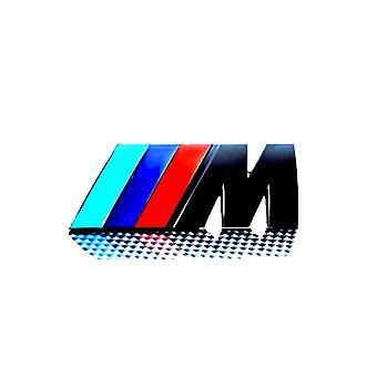 Insignia M ///M brillo negro tapa trasera tapa tronco insignia emblema palo para todos los BMW