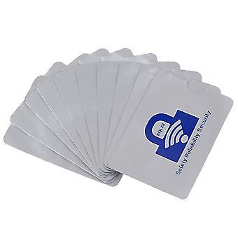 10pcs Zilveren RFID-houder blokkeren mouwen voor creditcards debetkaarten