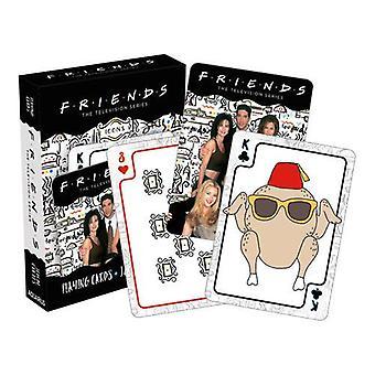 Vänner - ikoner spelar kort