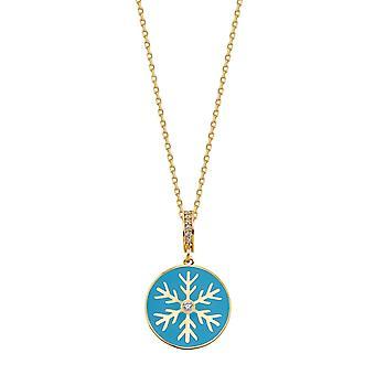 Snowflake Gouden Ketting