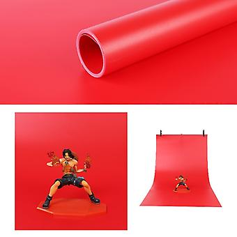 120x200cm PVC Paper Matte Photography Background(Red)