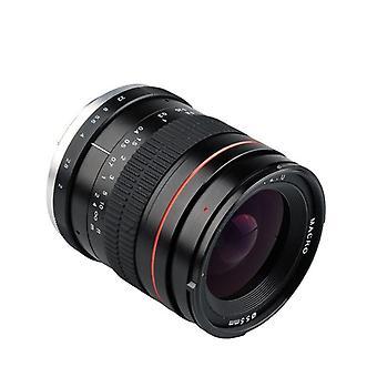 Lightdow 35mm F2.0 Laajakulmalinssi Täysi kehys Muotokuva Micro SLR Manuaalinen kiinteä tarkennuslinssi