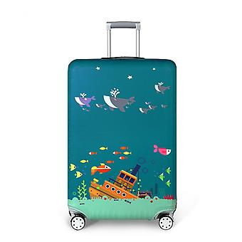 Drowning Ship Printed Travel Luggage Protector