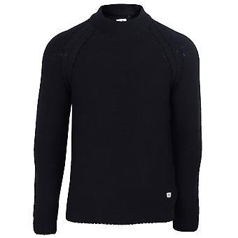 C.p. company men's navy turtle neck sweatshirt