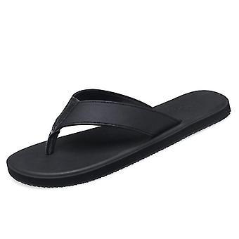 lær tøfler håndlagde flip flops komfortabel pustende strand sandaler