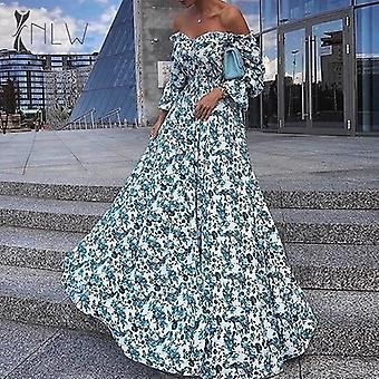 Off Shoulder Maxi Evening Party Dress
