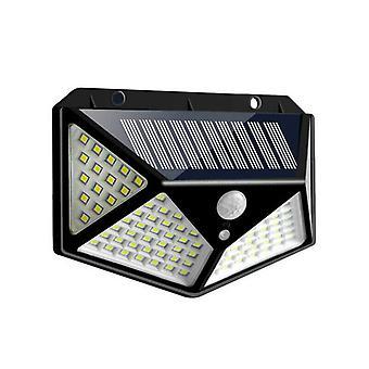 100 LED Solar Powered IR Motion Sensor Light Outdoor Garden Wall Light