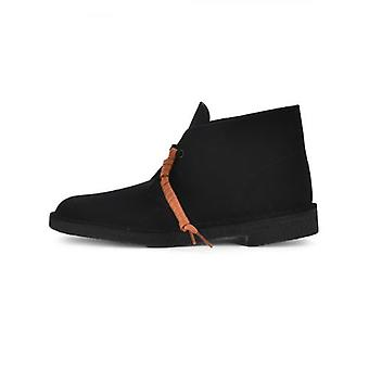 クラークス オリジナルス ブラック スエード デザート ブーツ