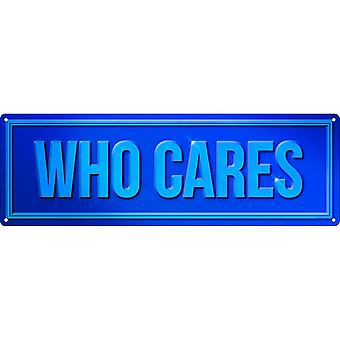 Grindstore Who Cares Plaque