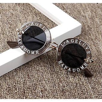 Metal Bee Sunglasses Vintage Round Oculos Feminino