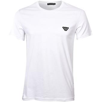 Emporio Armani Big Eagle Stretch Baumwolle Crew-Neck T-Shirt, weiß