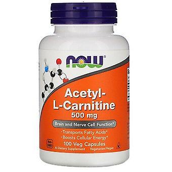 Nu Voedingsmiddelen, Acetyl-L-Carnitine, 500 mg, 100 Veg Capsules