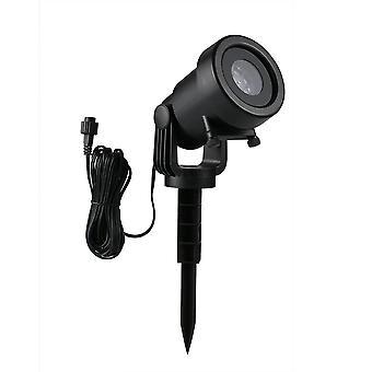 Projector licht 12pcs patroon spotlight romantische rgbw sneeuwvlok / liefde film roterende tuinlamp