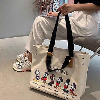 Disney Korean Canvas Large Capacity Tote Bag