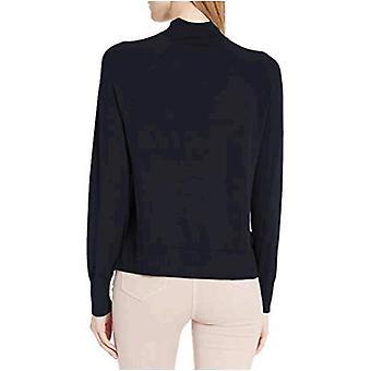 Brand - Daily Ritual Kvinder 's Fine Gauge Stretch Mockneck Pullover Sweater, Navy, Large