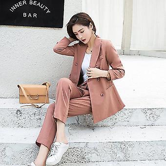 Herbst Frauen Hose Anzüge