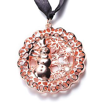 RACHEL GALLEY Simulated Pearl Snowman Baubles Charm in Rose Gold Tone