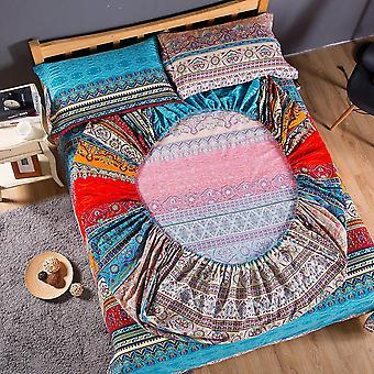 Bohemian Fitted Sheet Mattress Cover Pillowcase