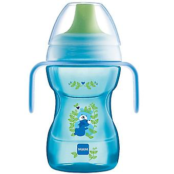 Mam fun to drink cup 270ml with handles blue