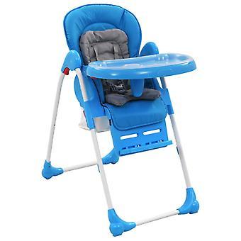 vidaXL الطفل كرسي عال الأزرق والرمادي