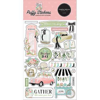 Carta Bella Flower Garden Puffy Stickers