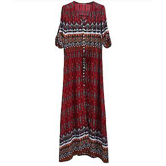 فستان ماكسي زهري 4007745