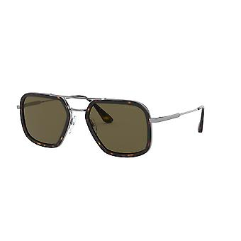 Prada SPR57X 01A8C1 Havana-Gunmetal/Brown Sunglasses