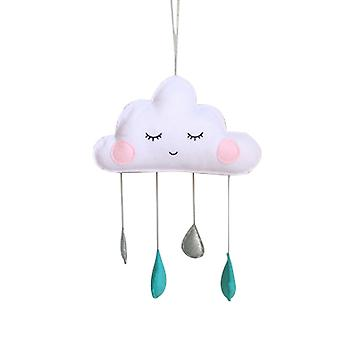 Cute Smiling Cloud Nordic Style Wall Hanging-Cloud Raindrop Furniture Decoration Baby Bed Decoration