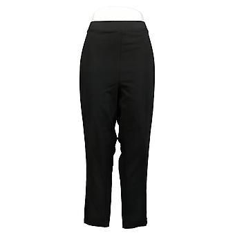 Susan Graver Petite Leggings Premium Stretch With Lacing Black A300540