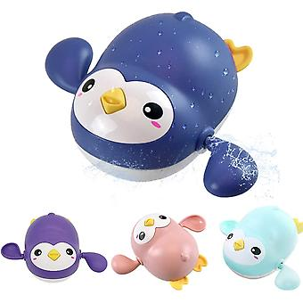 4pcs Wind Up Penguin Tub Toys, Playing Set For Children In Bathroom