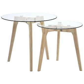 vidaXL 2-pcs. Beitable table set tempered glass