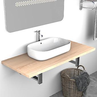 vidaXL bathroom furniture oak brown 90×40×16.3 cm
