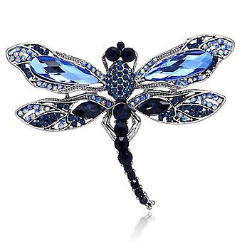 Insect Dragonfly Rhinestone Pins, Badge Brooches, Men, Jewelry Retro Pin