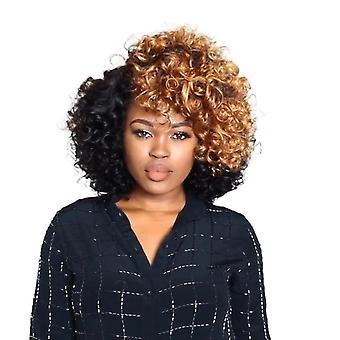 Naisten peruukki musta t ruskea afro pienet kiharat hiukset lyhyt w102