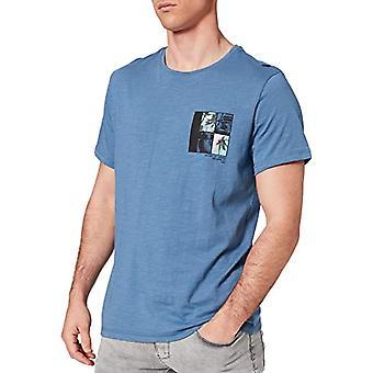 BLEND 20712078 T-Shirt, 184027_Moonlight Blue, 2XL Men's