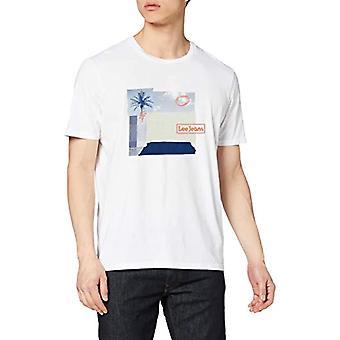 Lee Botanical Print Tee T-Shirt, White (Bright White Lj), Medium Men's