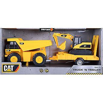 Lelutila - kissa - kuorma-auto & perävaunu äänellä - dumppausauto kaivinkonella