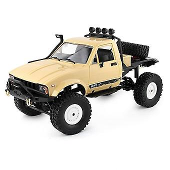 1:16 WPL C14 RC Truck 2CH 4WD Scale 2.4G Road Climbing  Kids Gifts Toy Model Toys|RC Trucks(Yellow)