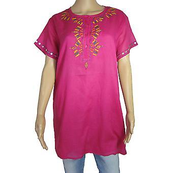 Antik Batik Womens 'Assini' Short Sleeve Casual Dress