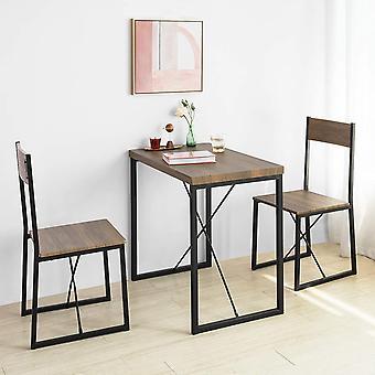 SoBuy Dining Set - Eettafel & 2 Stoelen,OGT19-N