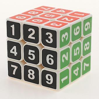 Cubo de puzzlerubik de número branco, brinquedo educativo/brinquedo adultos az5686