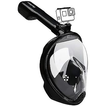 L-xl black 180¡ã cover facial diving mask for adults anti-fog anti-leak,copoz az3838