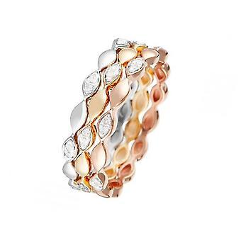 Ring 'Trinity' Tricolor Goud en Diamanten