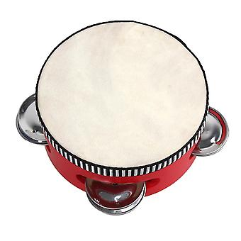 ل4Inch الأحمر طبل اليد التعليمية عزف موسيقي جلد الغنم الدف فاز صك WS5219