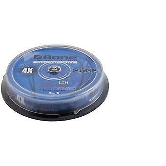 Aone 4x 25GB Blu-Ray Disc Full Face Afdrukbaar 10 PK Spindel