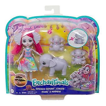 Muñeca con Mascota Mattel Enchantimals Sunny Savanna Esmeralda 15 cm