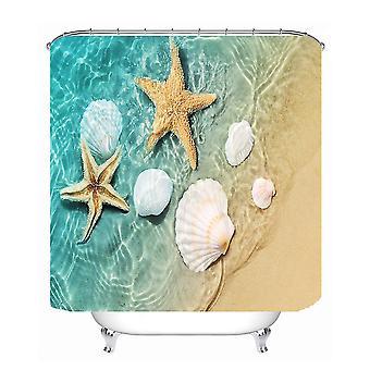 1.8X1.8m meritähti kuvio vedenpitävä suihku verho polyesteri kangas kylpyhuone kodin sisustus 12 koukut dt683