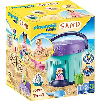 Playmobil 1.2.3 Sand 70339 Bakery Sand Bucket For 18+ Months